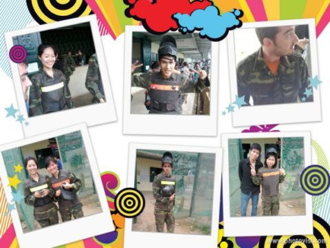 Sutunam (South Asia lion) plays Paintball